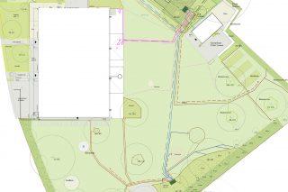 individueller CAD-Plan mit 12 Gießkreisen, H & W Bewässerung in München, Bayern und Detuschland - professionelle Bewässerungsysteme - automatische Bewässerung für Gärten, Gewerbe und Innenraum