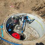 Technik im Brunnenschacht