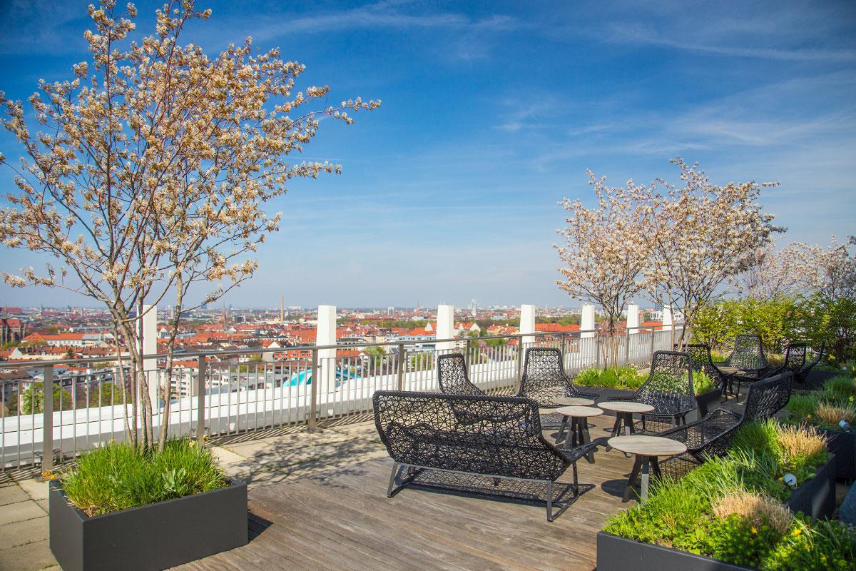 dachterrasse balkon automatische automatisierte bewaesserung bewaesserungsanlage. Black Bedroom Furniture Sets. Home Design Ideas